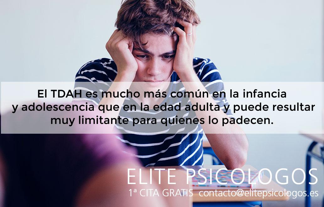 Tratamiento psicológico para el TDAH en Madrid