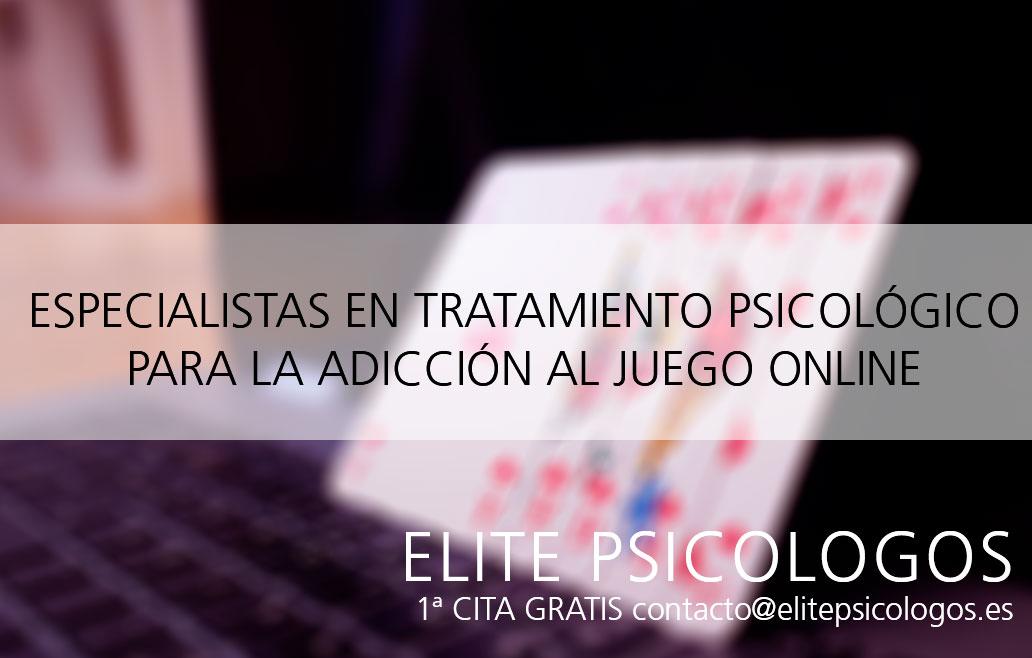 Tratamiento psicológico de adicción al juego online