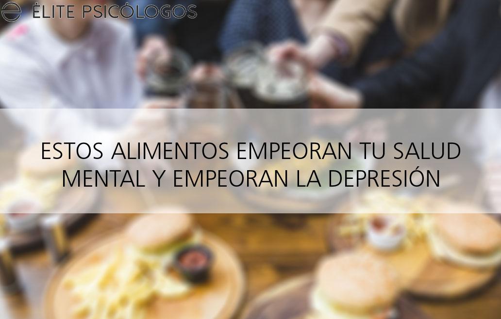 Alimentos prohibidos para la depresión