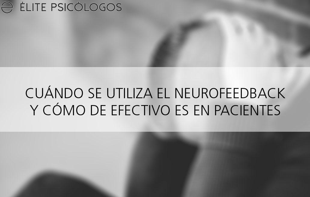 Para qué sirve el neurofeedback